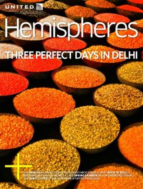 Inflight magazine cover image: Hemispheres (United)