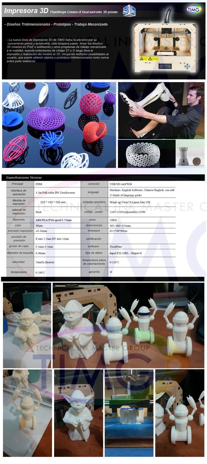OFERTA Impresora 3D TIMG - Trabajo Mecanizado - Diseños 3D - 1 Cabezal - prototipos tridimensionales - disponibles http://www.suministro.cl/product_p/imp_3d1.htm