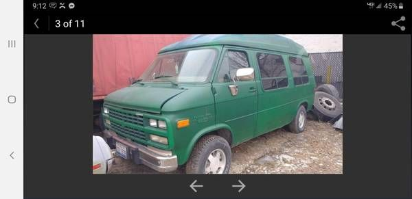 1995 Chevy G20 Van Rare Turtle Top Package Chevy Turtle Top