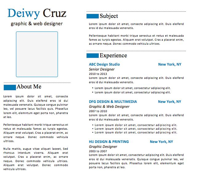 23 best Creative Resume Templates images on Pinterest Free - resume template on microsoft word 2010