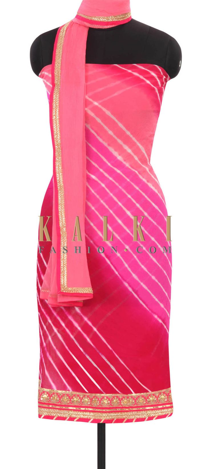 Buy this Multi-color-unstitched-suit-in-gotta-lace-only-on-Kalki