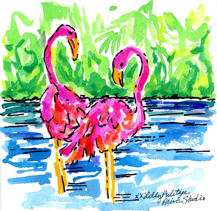 Flamingo flirt #lilly5x5