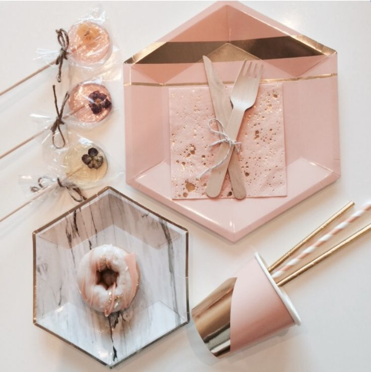PEACH AND GOLD THEMED SECOND BIRTHDAY; peach-gold-marble-flatlay; party-ideas; party-themes; party-inspo