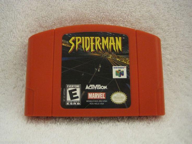 Spiderman N64 Activision Marvel Game Cartridge Spider-Man Nintendo 64