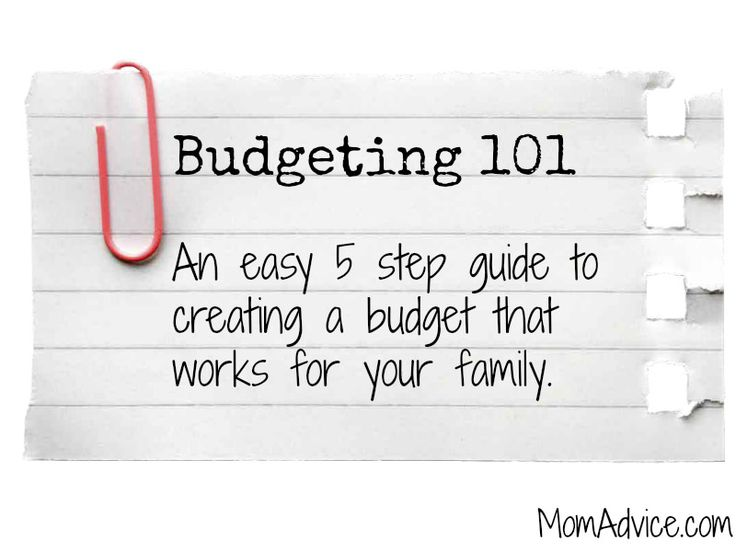 Budgeting 101: 5 Easy Steps to a Budget that Works - MomAdvice