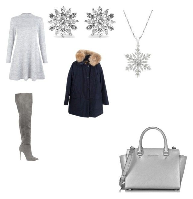 """""""Winter outfit"""" by missfede on Polyvore featuring moda, New Look, Michael Kors, Kenneth Jay Lane e Woolrich"""