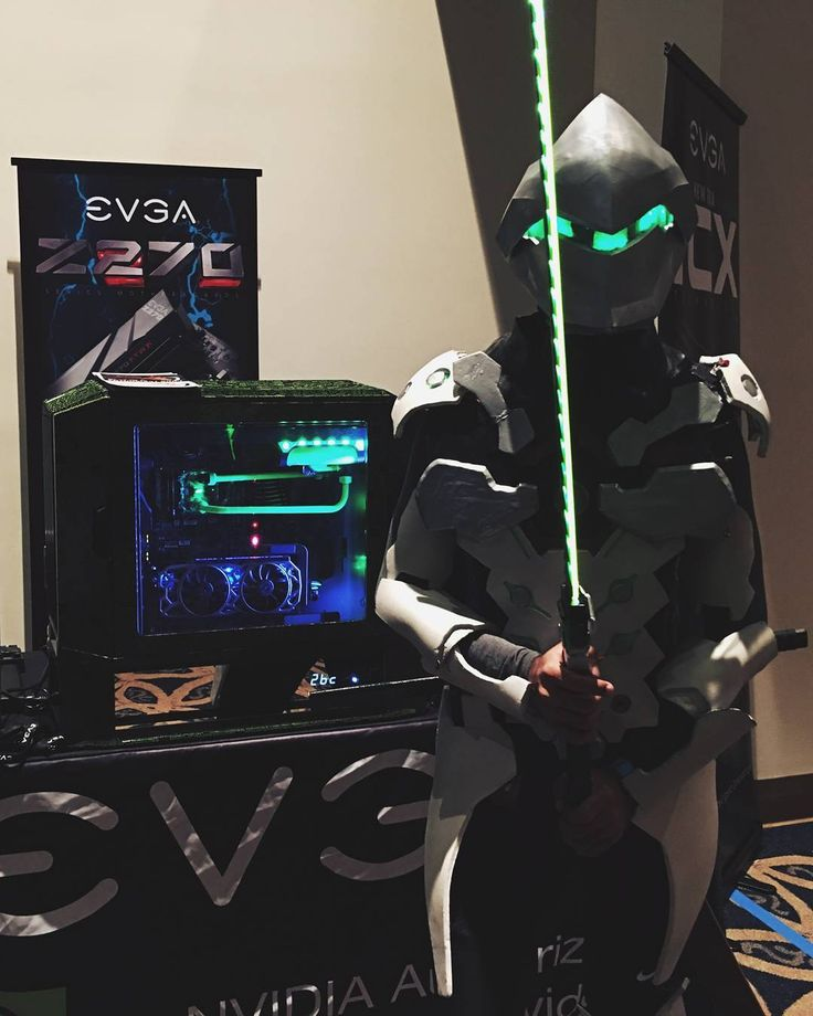 Genji is with you! #Gengi's dragon blade will protect the DG-87 at the @TEAMEVGA booth.  #TitanCon 2017! #Overwatch #DG87 #GTX1080TiSC2