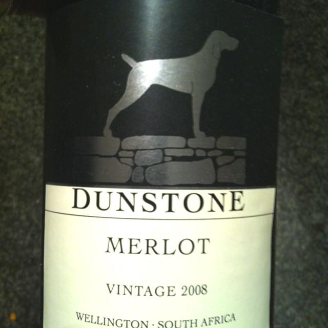 Dunstone Merlot 2008, great merlot from Wellington SA