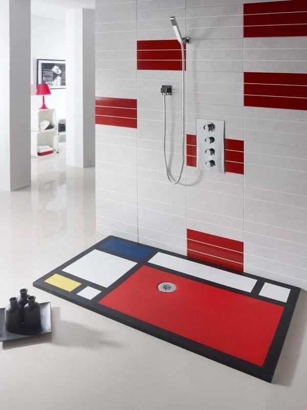 Plato de ducha moderno en varios colores