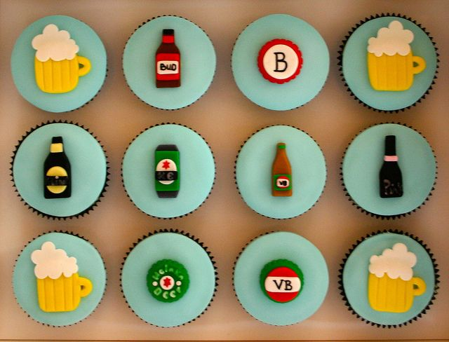 Alcohol Themed Cupcakes