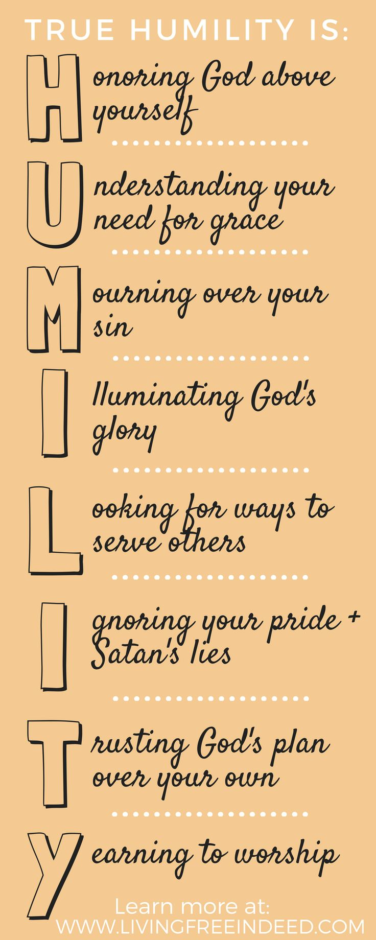 Humility actively recognizes God for who He truly is—your Creator, the Mighty One, the Savior, the Eternal King.