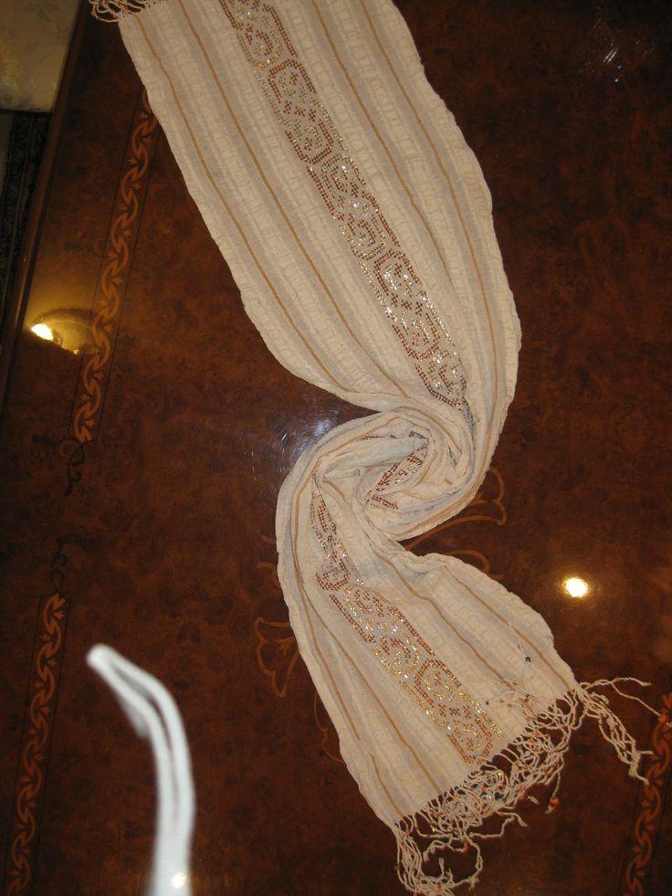 el dokuması kumaşa yaptığım tel kırma