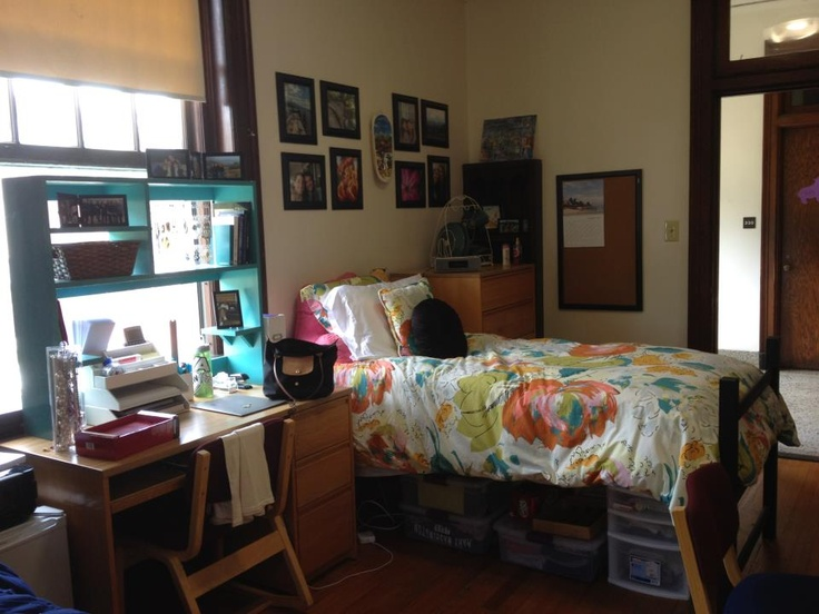 I finally used everything on my lovely dorm board to create my actually dorm room! Success!