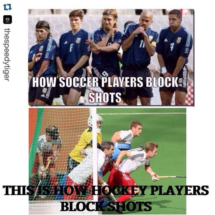 Soccer = please don't hit me Hockey = die bitches did