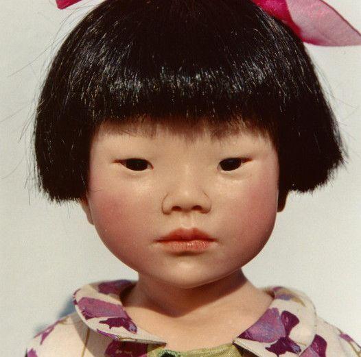 poupe pice unique aure du printemps petite fille chinoise cration 2004 https