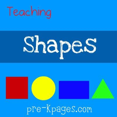 and ideas for teaching young children to recognize shapes in childcare, preschool, pre-k, or kindergarten classrooms.