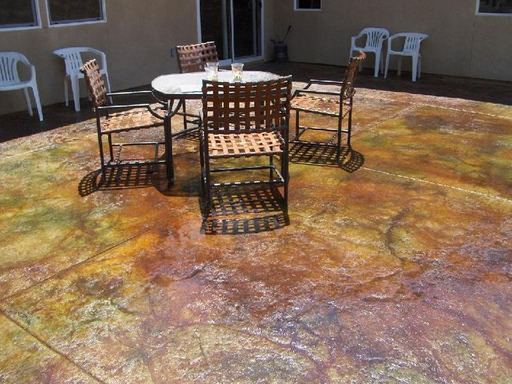 How Do You Stain Concrete | Colorado Patina Stained Patio