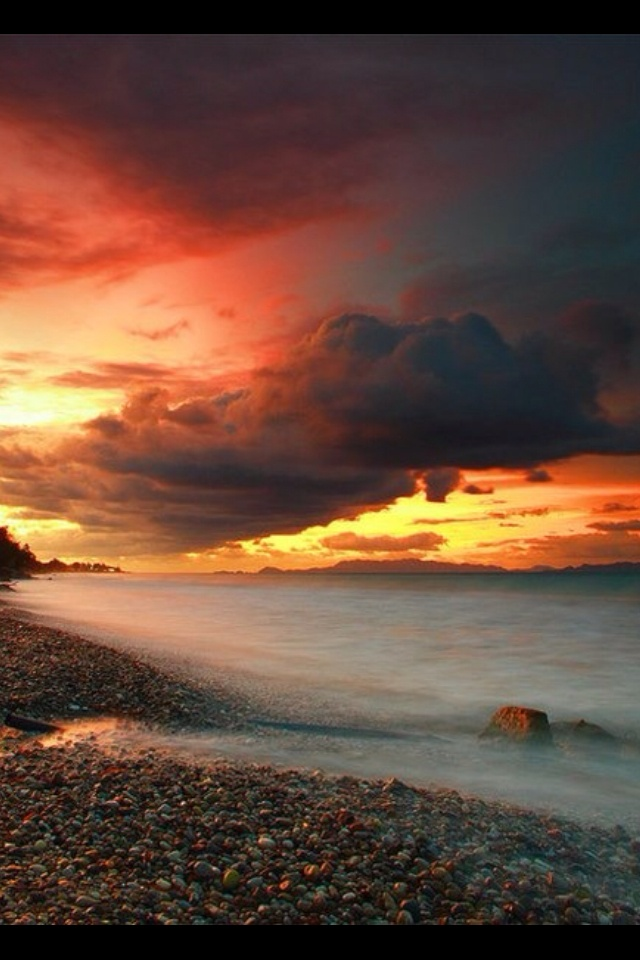 Sunset in Cape Sounio