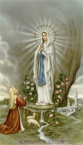 Nossa Senhora de Lurdes e Bernardette