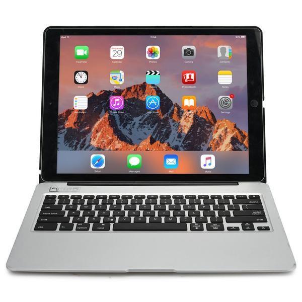 Cooper Kai Skel A1 Backlight Keyboard Aluminum Clamshell w/ Power Bank for Apple iPad Air 2, Pro 12.9, Mini 4