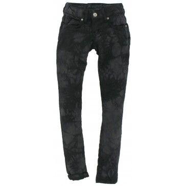 Hound - Broek Tie Dye zwart