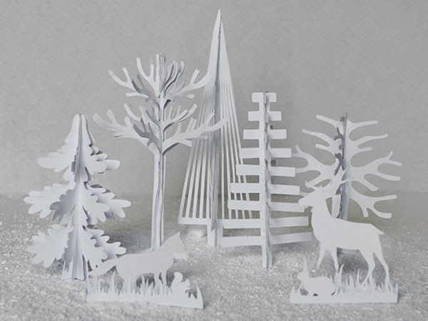 FREEBIE: Winter Forest Animals Cut Its (SVG included) - Under A Cherry Tree