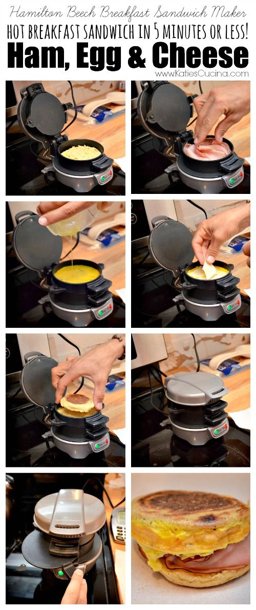 Make a Ham Egg & Cheese Breakfast Sandwich in 5 minutes or less!