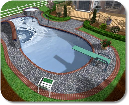 Backyard inground pool landscaping ideas