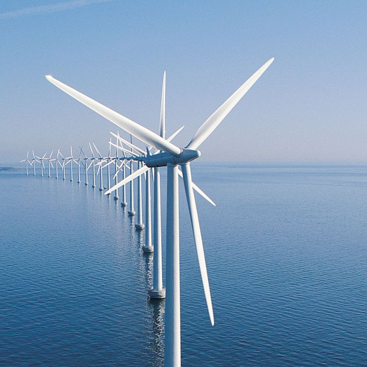 Wind turbines aren't beautiful things but i must admit this just looks amazing for some reason