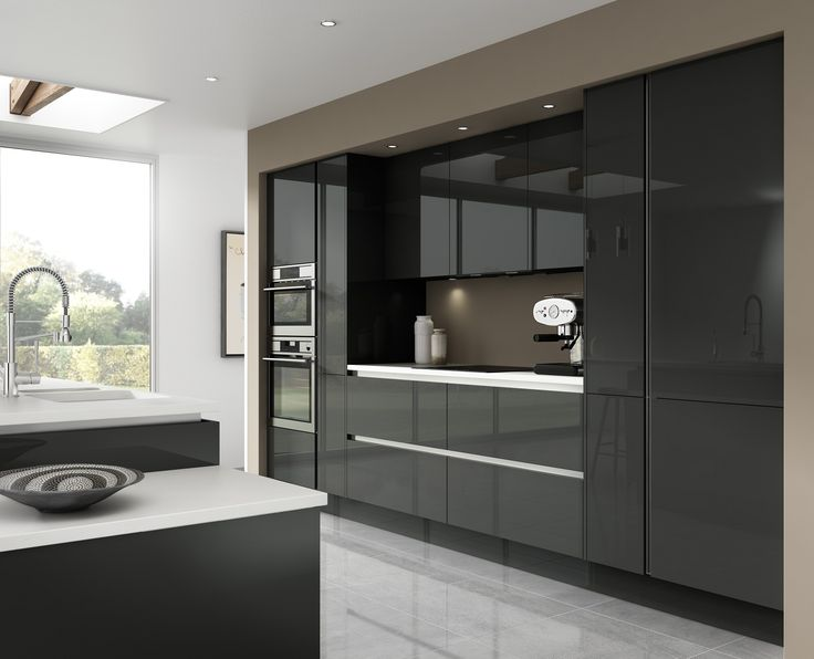 Best Kitchen Units Images On Pinterest Kitchen Units Modern - Dark grey kitchen units