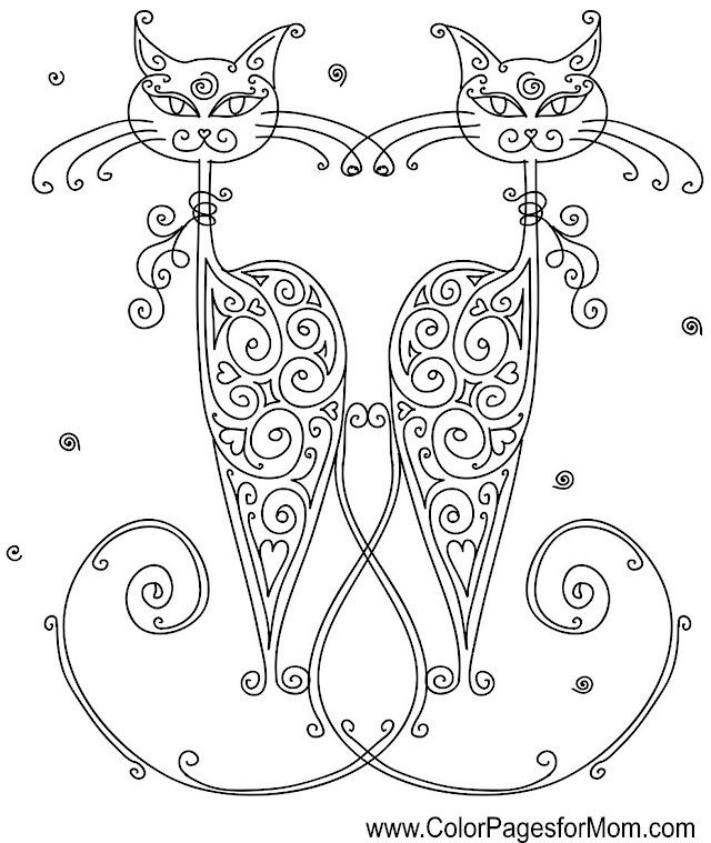 Cat Coloring Page Coloringpage Adultcoloringpage Colorpagesforadults Mandala ColoringColouringColoring BooksAnimal