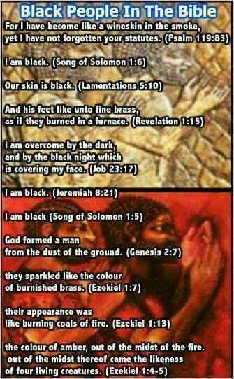 The Bible is about a people Hebrew people which are black people written by black Hebrew men of GOD;-)