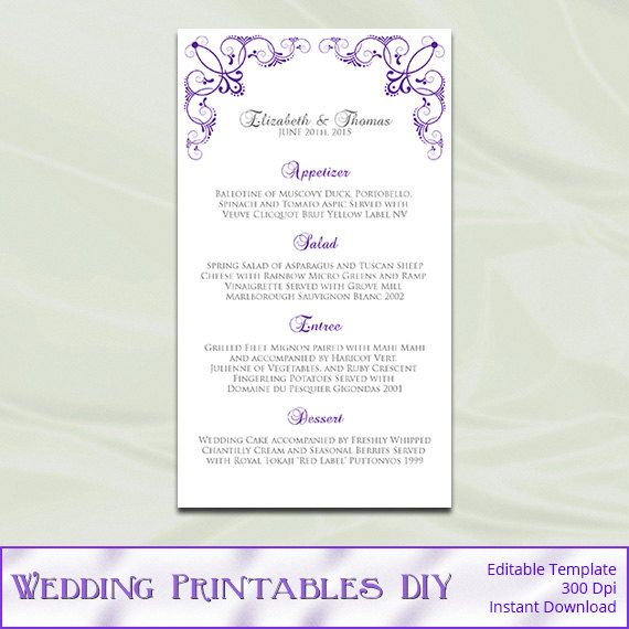 30 best menu card, nametag, images on Pinterest Invitations - Menu Word Template