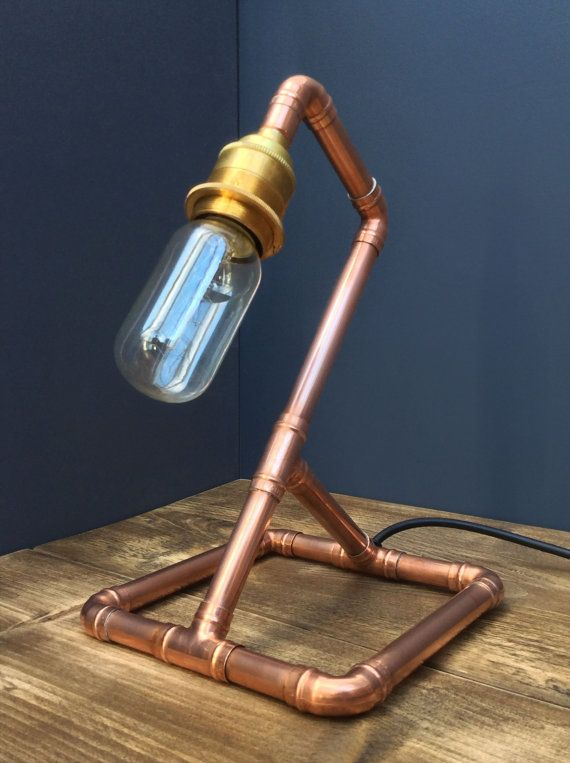 Copper Pipe Retro Industrial Chic Table Lamp by Punkmetalltd