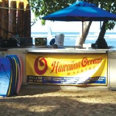 DAY THREE: Beach Gear Rental- If you're flying to Hawaii, you probably don't have room to pack your beach gear. No problem. Hit this kiosk on Oahu's famed Waikiki Beach and borrow a chaise lounge or umbrella. Want a little exercise? Rent a surfboard or boogie board. Surf's up!
