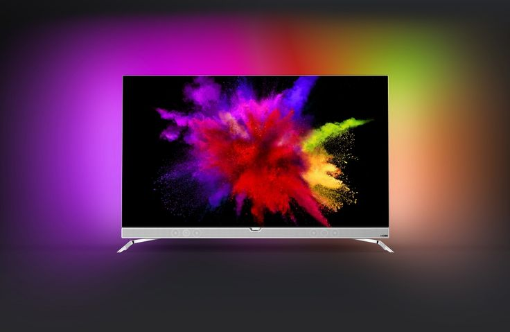 Philips' new OLED TV has built-in super colorful ambient lighting