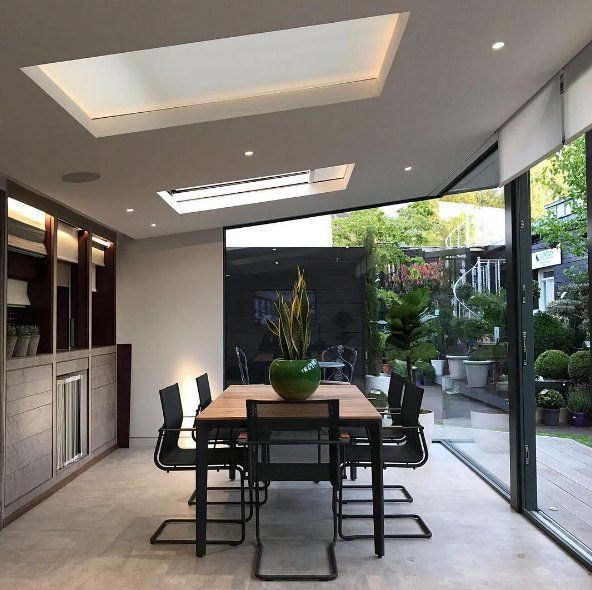 Blindspace boxes to conceal blinds in skylights, bi-fold doors, and gable windows.     Keywords: roller shades, solar shades, Honeycell, skylight shades