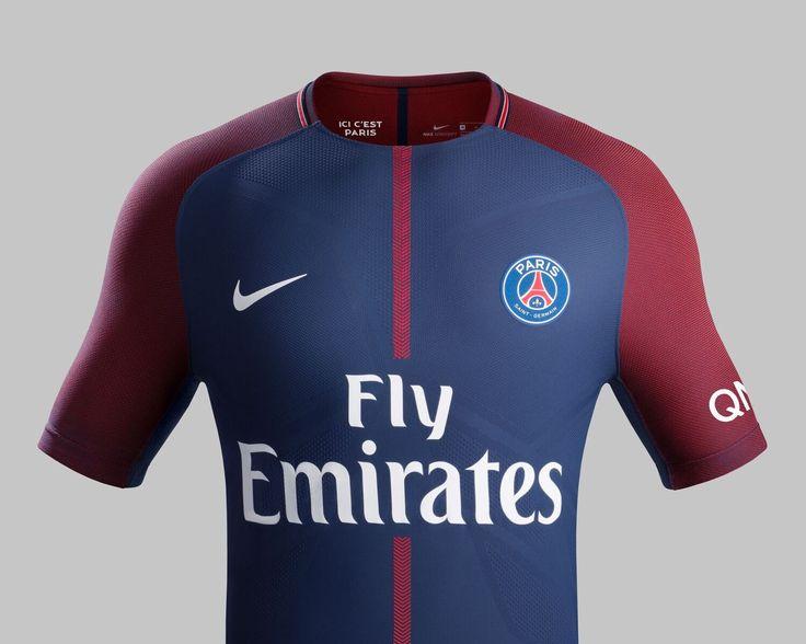 PSG 2017/18 Home Kit. Get your Paris Saint-Germain soccer jerseys at WorldSoccerShop!