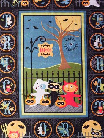 Sherri Berry Trick or Treat Street Fabric Panel | beebers31 | Flickr