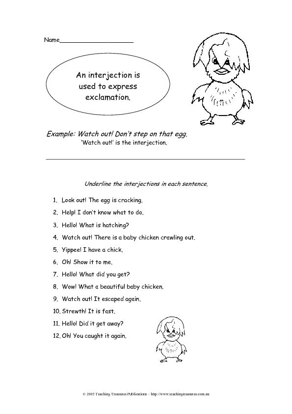 Classroom Worksheet Ideas ~ Interjections worksheet lesson planet fifth grade