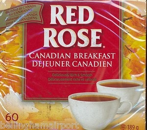 Red Rose Canadian Breakfast Tea 60 Bags Brewed in Canada for Canadians FASTSHIP | eBay