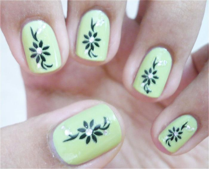 Beautiful Cool Nail Art Designs For Short Nails 2014 | Nail Design Ideas 2014 Part 29