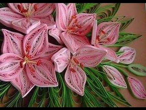 Quilling Made Easy # How to make Beautiful Pink Complex Flower using Paper Art Quilling -Paper Art - YouTube