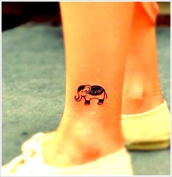 tatuaże słonie na kostce #tattoo