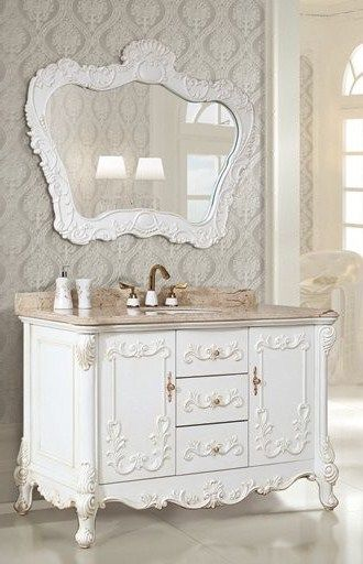 Luxurious Vintage Bathroom Vanity With Sink Console