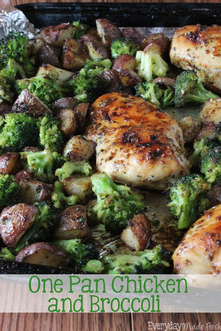 One Pan Chicken and Broccoli is sweet and juicy; perfect for any night of the week! | EverydayMadeFresh.com