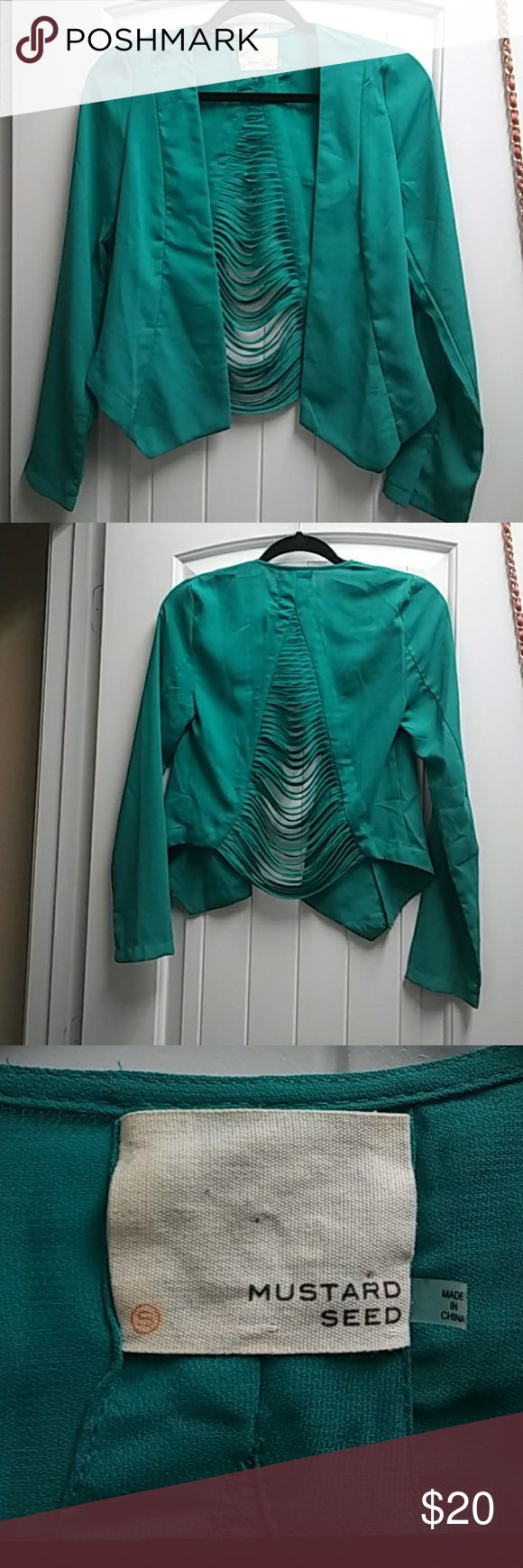 Mint Green Blazer 100% polyester great condition! Mustard Seed Jackets & Coats Blazers