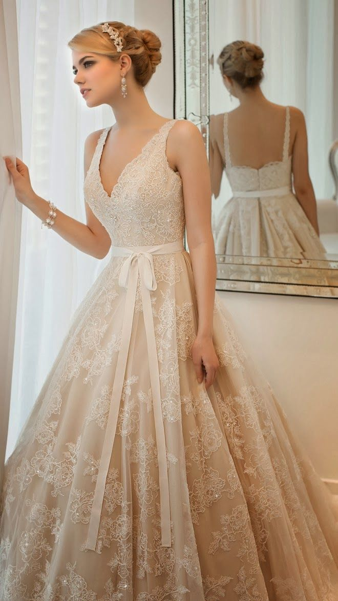 Spring 2014 Wedding Gown Spotlight-- surprisingly I think I love this dress even though there's no blue