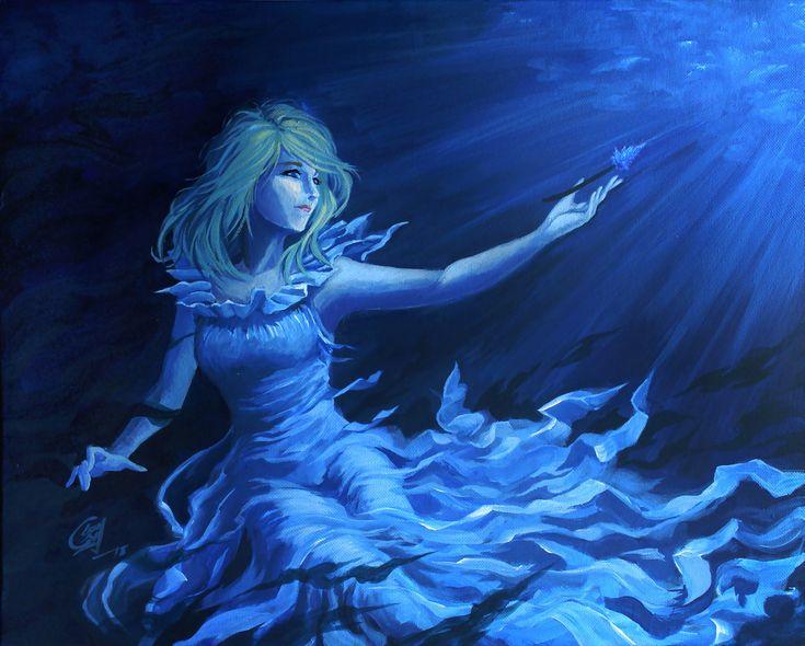 Lunafreya ffxv painting oc fanart final fantasy