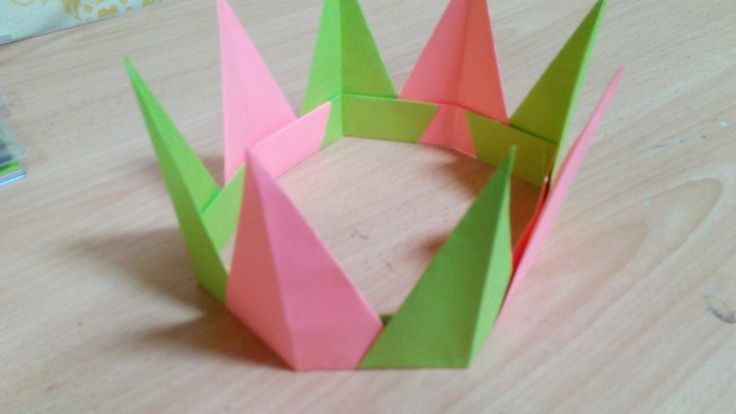 How to Make Origami Modular Spiky Crown - Tutorial .